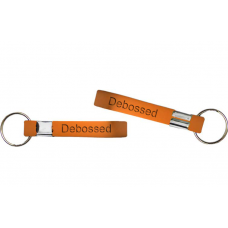 13mm debossed orange wristband keychain