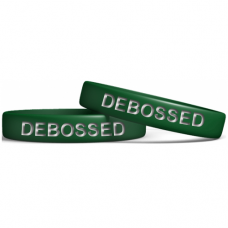 Green 13mm Debossed Wristband Manufacturer