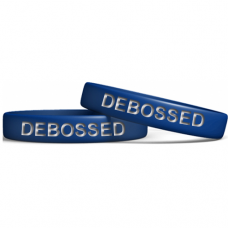 Blue 13mm Debossed Wristband Manufacturer