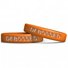 Orange 13mm Debossed Wristband Manufacturer