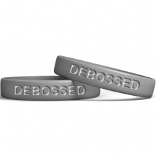 Silver 13mm Debossed Wristband  Manufacturer