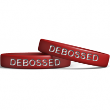 Red 13mm Debossed Wristband Manufacturer