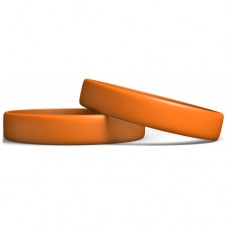 13mm Wristbands : Orange color