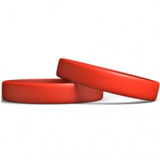 Silicone Wristband Manufacturer : Candy Apple Red color