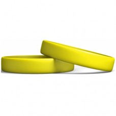 Rubber Wristband Manufacturer: Yellow color