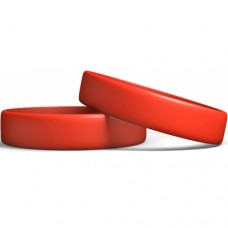 Silicone Wristband Manufacturer : Candy Red color