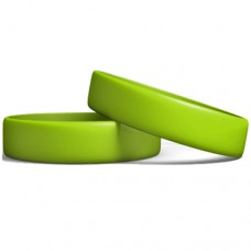 Silicone Wristband Manufacturer: Neo Green color