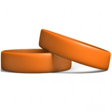 Silicone Wristband Manufacturer: Orange color