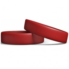 Silicone Wristband Manufcturer: cardinal Red color