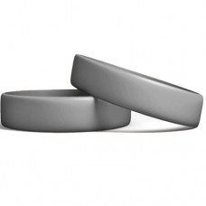 Silicone Wristband Manufacturer: Steel Grey color