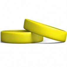 Silicone Wristband Manufacturer: Yellow color