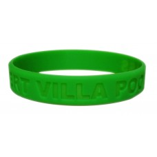 18mm debossed wristband in green