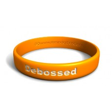 DEBOSSED WRISTBAND IN YELLOW