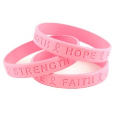 Customized Debossed Wristband Manufacturer :Debossed Pink
