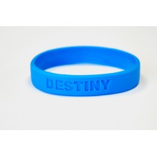 18mm debossed wristband in blue