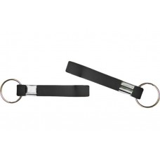 printed wristband key chain black 13mm